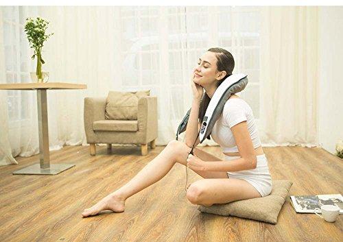 Naipo Nackenmassagegerät Einstellbare Intensität Shiatsu Rücken Schulter-Massagegerät Mit Wärme Und Elektrische Tiefengewebe Knetmassage Für Muskelschmerzen Relief Relaxation Für Office Home Car