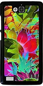 Coque pour Huawei Honor 3C - Floral Abstrait G17