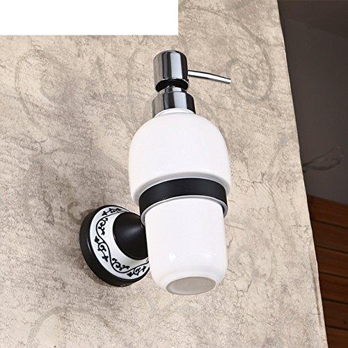 Zimmer Sanitizer (Kupfer schwarz Bronze Seifenspender/ hand Sanitizer Flaschen/Wall Mount antike Keramik Flaschen Shampoo-B)