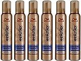 Wella Wellaflex 2-Tages Volumen Schaumfestiger für starken Halt, 6er Pack (6 x 200 ml)