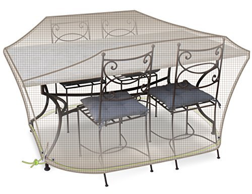 Housse de protection table rectangulaire + chaises 4-6 pers.