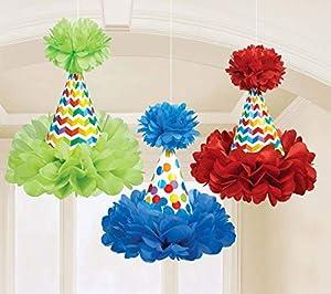 amscan 180117 - Sombrero de Cono de cumpleaños Brillante