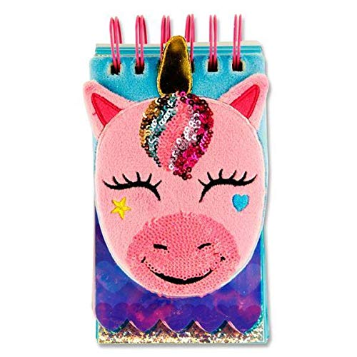 Stitch Premier Emotionery 16 x 9 cm 500pg Spirale en Peluche Fluffy Ordinateur Portable - Licorne
