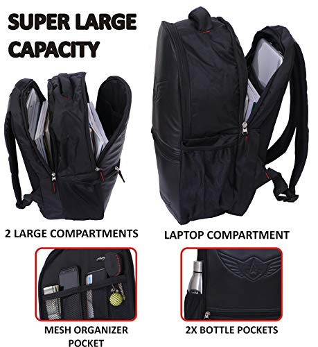 AUXTER Blacky 30 LTR School Bag Casual Backpack with Laptop Compartment Image 5