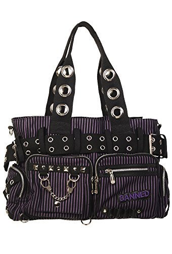 Banned Apparel Canvas Rockabilly Women's Shoulder Handbag