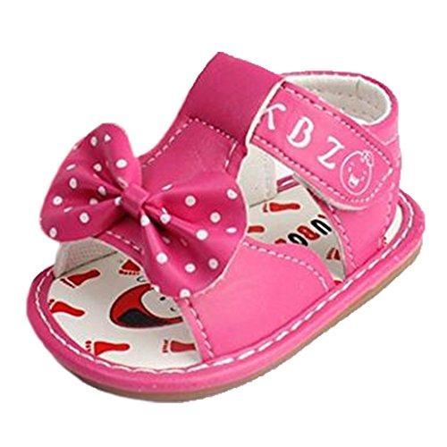 Ohmais Enfants Chaussure bebe fille premier pas Chaussure premier pas bébé sandale en cuir souple Rose