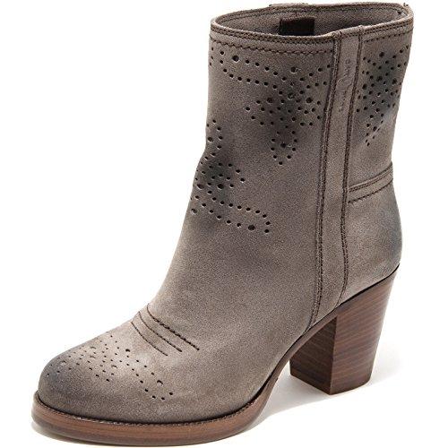 Stivaletti mezzo polpaccio Car Shoe donna in pelle scamosciata - Codice modello: KDT63H 0B2 F0308 - Taglia: 36 IT