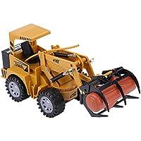 Dilwe 5 Canales Funcional RC Excavadora, Control Remoto RC del Tractor para Niños