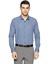 Knighthood by FBB Men's Printed Slim Fit Formal Shirt