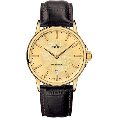 Edox Women's Les Bemonts 28mm Leather Band Swiss Quartz Watch 57001 37J DI