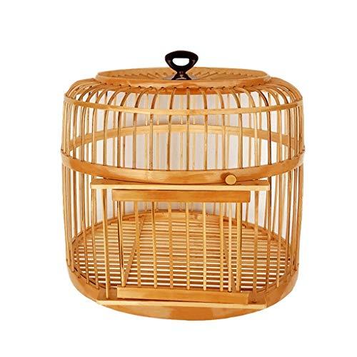 Vogelkäfig käfig Handmade Vogelkäfig Bambus Top Hängenden Ring Geeignet für Outdoor Hängen...
