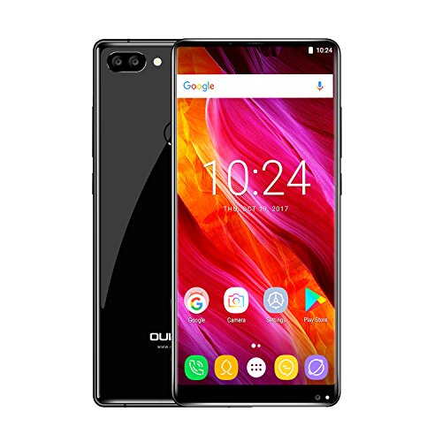 OUKITEL MIX 2 5,99 Zoll 18: 9 Vollbild2160 x 1080 Pixel MTK6757 Helio P25 Octa Core 6 + 64GB Akku4080mAh Android 7.0 4G Smartphone-Schwarz Smartphone-preis In Indien