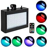 Eyourlife 180 LEDs Strobe Licht Stroboskop Disco Strobe Bühnenbeleuchtung Musikgesteuert
