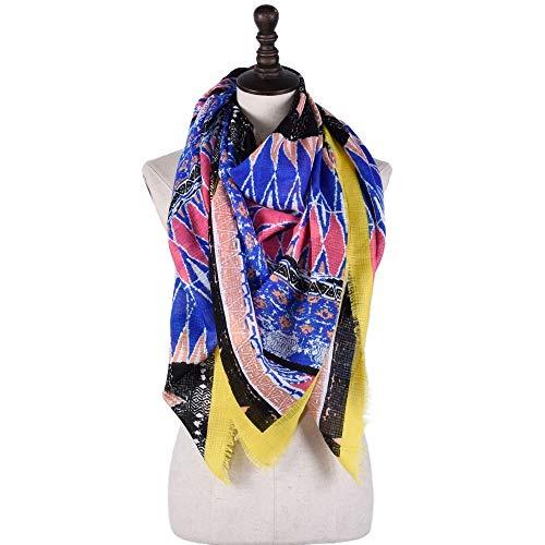 GUANHONG Ethno-Stil Baumwolle und Leinen Schal böhmischen Schal großen Schal -