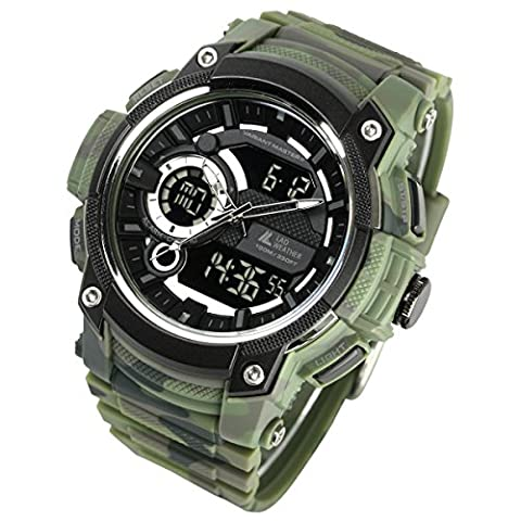 [Lad Wetter] Triple Time/Military/Camouflage/Outdoor/Herren-Armbanduhr