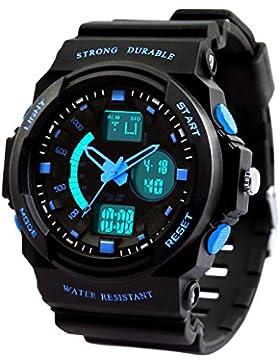 Dictac Digital Armbanduhr 50M Wasserdichte Sportuhr für Schwimmen Dual Display Stoppuhr für Jungen Männer Frauen...