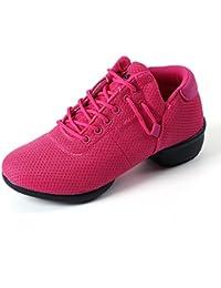 misu - Zapatillas de danza para mujer Rojo Red, color Rojo, talla 38.5