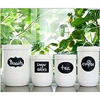 Unory bordo (TM) casa 36x decorativo Piccolo Gesso Nero Mason Jar Etichette adesivi removibili Lavagna unico poco costoso # 70059