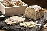 bax im Holz Brot-Holzbackrahmen aus naturbelassenem, massivem Buchenholz für...