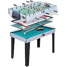 SPORT AND FUN 5847 Table de Jeux 4 en 1 avec Pied Mixte Enfant, Vert 792d9962f2c3