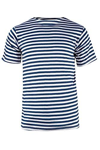 bc76da011cf654 strongAnt Herren Gestreiftes T-Shirt. Matrosen Shirt Gestreift Sommershirt.  Telnjaschka Russische Marine 100