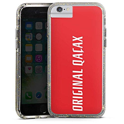 Apple iPhone 6 Bumper Hülle Bumper Case Glitzer Hülle Xatar Fanartikel Merchandise Merchandising Pour Supporters Bumper Case Glitzer gold