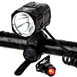 Best Bicycle Lights 1200 Lumens Rechargeables - BYBO USB Rechargeable Bike Lights Set 1200 Lumens Review