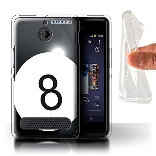 Carcasa/Funda STUFF4 TPU/Gel para el Sony Xperia E1 / serie: Bolas de los deportes - Piscina/billares