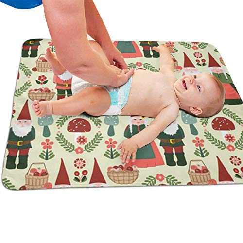 Zcfhike Baby Portable Diaper Changing Pad Gnomes Urinary Pad Baby Changing Mat 31.5