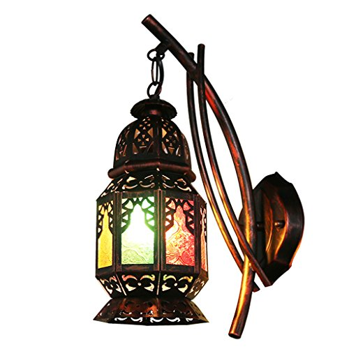 CKH Bohemia Kreative Wandlampe Türkische Restaurant Cafe Inn Bed and Breakfast Lampe Farbe Gang Lampen