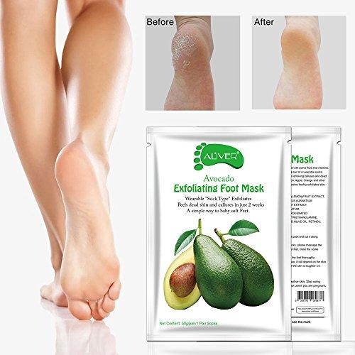 hahuha Makeups  Schönheitsprodukte ,Avocado Hot Entfernen Abgestorbene Haut Fußmaske Peeling Nagelhaut Ferse Fußpflege Anti Aging