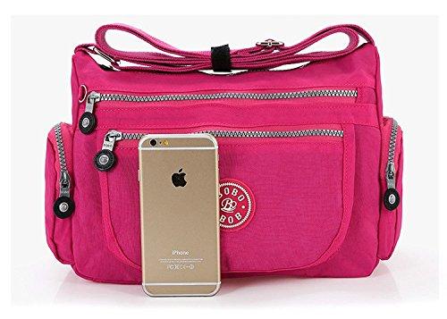 GFM Fashion, Borsa a tracolla donna Small Style 2. - Hot Pink (32CRTGLB)