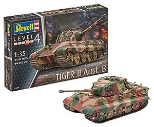 Revell- Tiger II Ausf. B (Henschel Turr) Maqueta Tanque de Guerra, 12+ Años, Multicolor (03249)