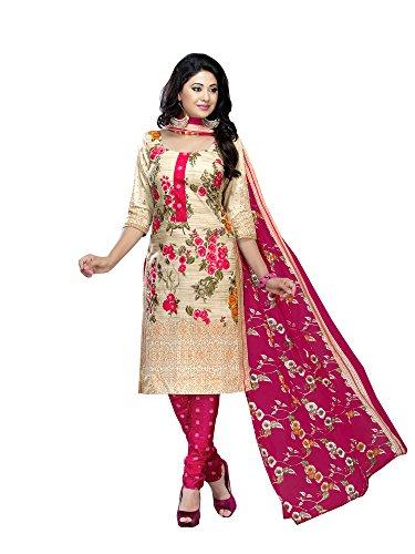 Zulkee Women\'s Cotton Dress Material (PY3018-BB_Free Size_Multi)