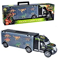 SODIAL Car Toys For Boys Plastic Interactive Car Toys For Children Diecast Dinosaur Cars Truck Toy Transport Vehicle Kids Birthday Gift