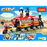 Babytintin™ Cogo Modal Train Set Steam Engine With Platform Building Block Set For Kids