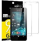 Pack de 2 Verre Trempé Nokia Microsoft Lumia 550, NEWC Film Protection en Verre trempé écran Protecteur vitre - ANTI RAYURES SANS BULLES D'AIR Ultra Résistant Dureté 9H pour Nokia Lumia 550