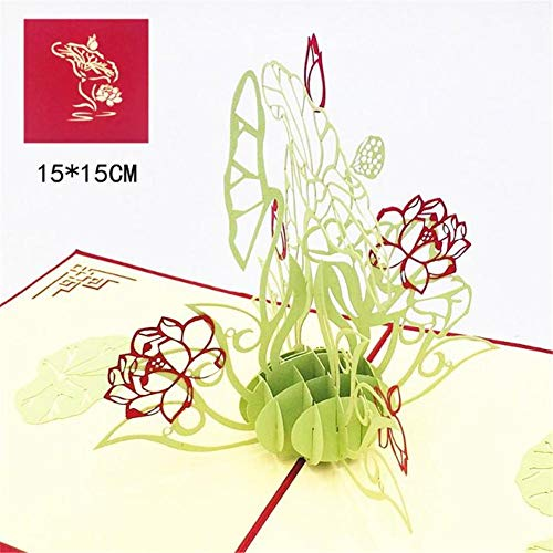 ZUOLUO Handgemachte Geschenkkarte Muttertagskarte Sie Karten Drucken Blumenartpostkarte Passendem 3D Geschenk Geschenkkarte Grußkarte Grußkarten Umschlag