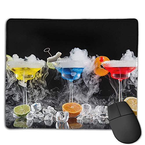 Preisvergleich Produktbild Mouse Pad Drinks Colorful Cocktail Art Rectangle Rubber Mousepad 8.66 X 7.09 Inch Gaming Mouse Pad with Black Lock Edge
