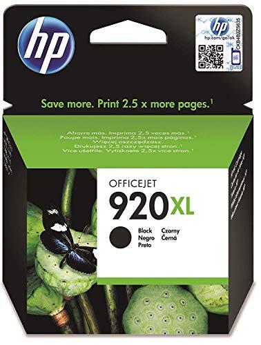 HP 920XL Schwarz Original Druckerpatrone mit hoher Reichweite für HP Officejet 7500A, 7000, 6000, 6500, 6500, 6500A, 6500A (Hp Drucker Mit 920 Tinte)