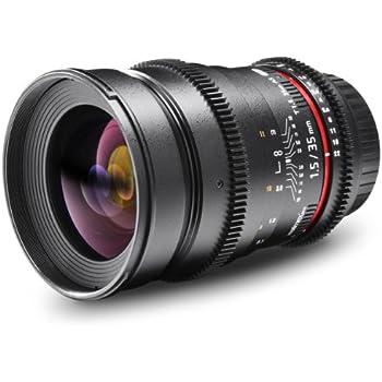 Walimex 35 mm f/1.5 AS UMC - Objetivo para Canon (distancia focal fija 35mm, apertura f/1.5-22, diámetro: 77mm) negro