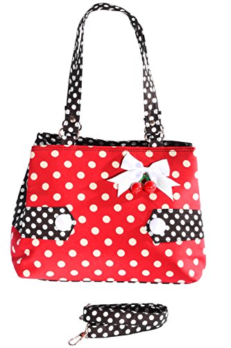 Polka Dots Uniform rockabilly RETRO Kirschen Handtasche Tasche