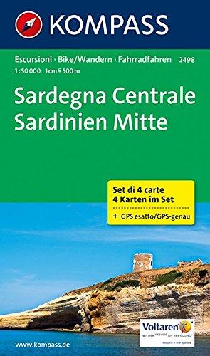 Sardegna Centrale - Sardinien Mitte: Wanderkarten-Set. GPS-genau. 1:50000 (KOMPASS-Wanderkarten, Band 2498)