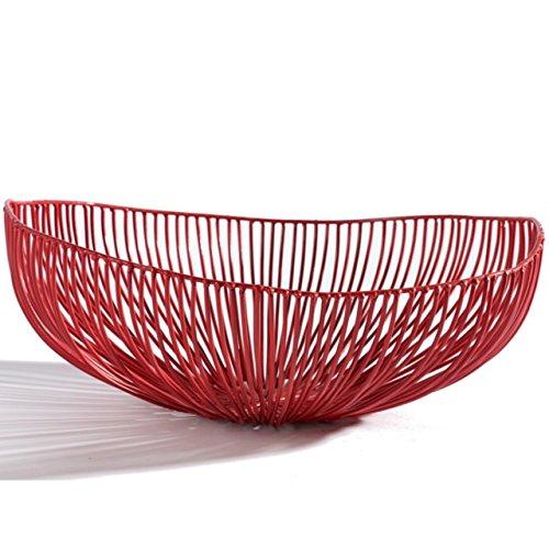 Plateau ovale Meo, rouge 37x33 cm