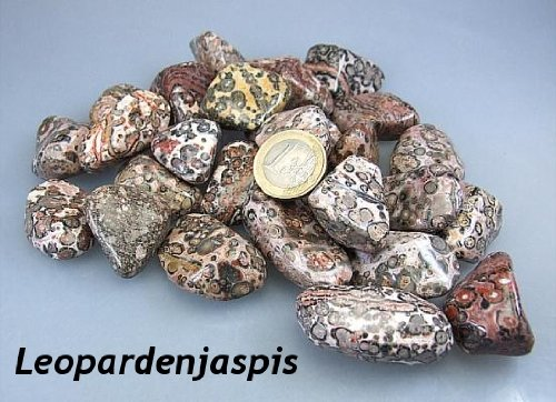 Leopardenjaspis Trommelsteine aus Mexiko - XL - 500 Gramm