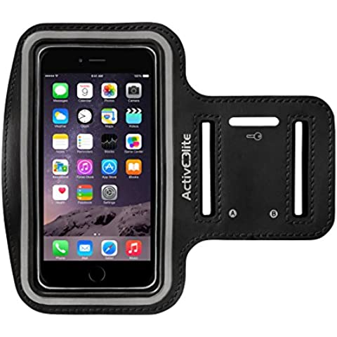 Active Elite brazalete deportivo/funda/carcasa para iPhone 6/6s & 6 Plus/6S Plus – Ideal para deportes/correr/correr negro Talla:5.5 Zoll (Iphone 6 Plus/6s