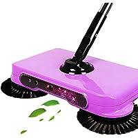 Huatuo® Empuje la mano barredora aspirador inteligente automática escoba de mano empuje Dustpan combinado de luces con LED barrido máquina (Púrpura)