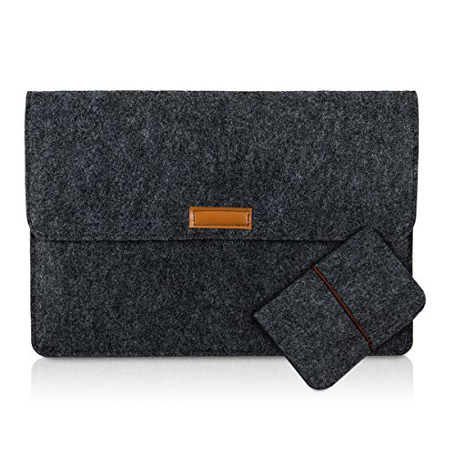 kwmobile 25380.4.19 Notebooktasche 33 cm (13 Zoll) grau
