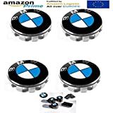 FORTEN CAR x4 Nabenkappen 55 mm Logo BMW Serie 1 2 3 4 5 6 7 M Z X - Felgen Lega