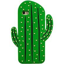 Cactus Form Weiches Silikon Hülle cover Halter wieder Gel Tpu Haut iPhone 8 Neue Cartoon Design ©Sloth Cases (iPhone 8)